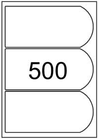 Bottle labels 195mm x 90mm - White Paper Labels