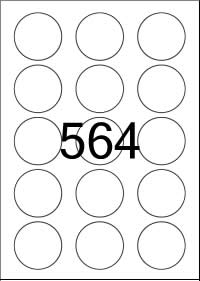 Circle Label 50 mm diameter - White Paper Labels