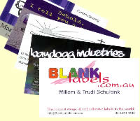 Business cards - Full colour front & back; laminated front