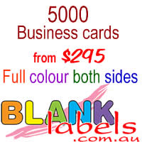 5000 Business cards $295 - Full colour both sides, unlaminated