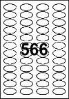 Oval Label 38 mm x 20 mm - White Paper Labels