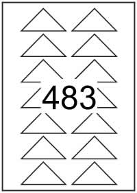 Triangle labels 70.7mm x 35.35mm - White Paper Labels