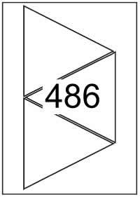 Triangle labels 140mm x 140mm - White Paper Labels