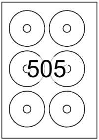 CD labels 78mm dia - White Paper Labels