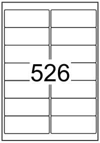 Rectangle Labels 99.1mm x 38.1mm - White Paper Avery* L7163