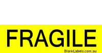 FRAGILE label in 84mm x 39mm or 50mm x 21mm
